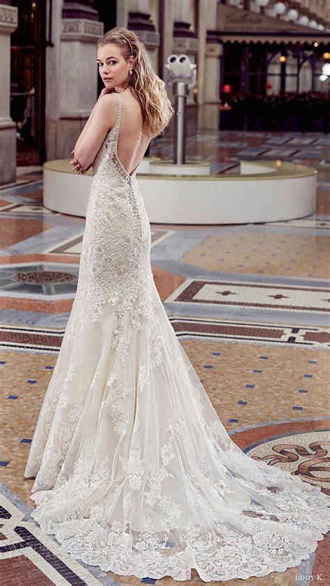 eddy k milano bridal 2017 sleeveless beaded straps vneck