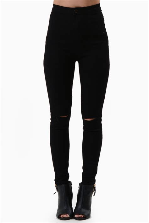 lili high waisted black jeans iclothing