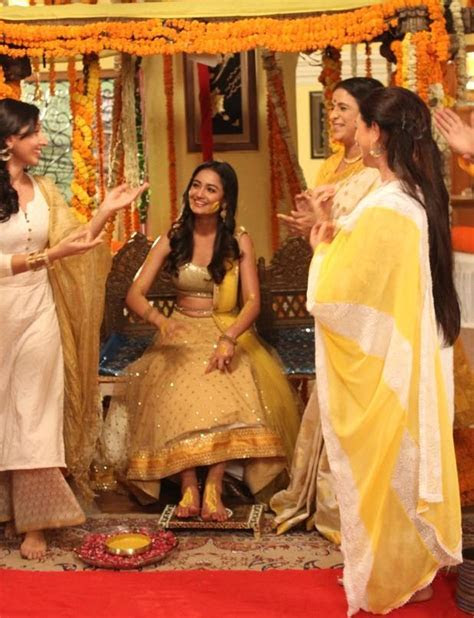 Colour Coded Haldi Ceremony for Telly Couple Harshad and