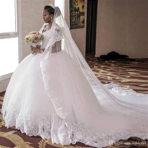 Arabic South African Vintage Cap Sleeves Wedding Dresses