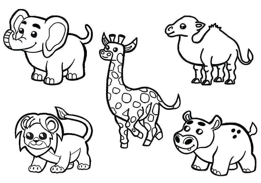 African Safari Animals Coloring Pages at GetColorings.com ...