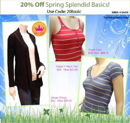 20% Off Splendid at Queen Bee