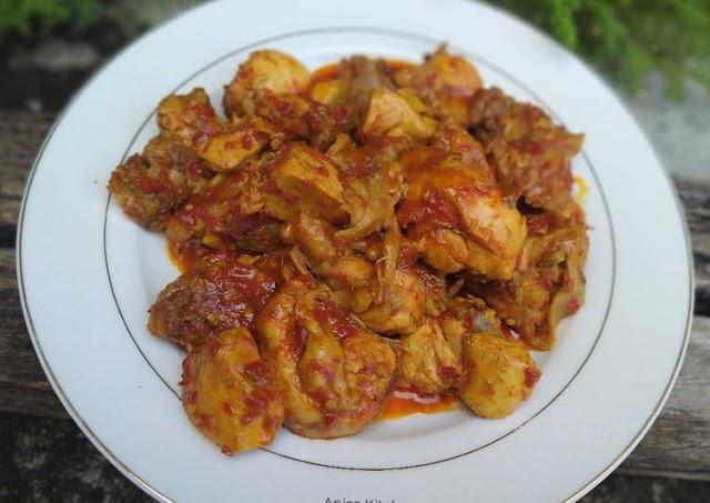 Resep: Berselera Rendang Ayam Praktis Cara Bunda Judith Recipe