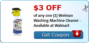 $3.00 off of any one (1) Weiman Washing Machine Cleaner -  Available at Walmart
