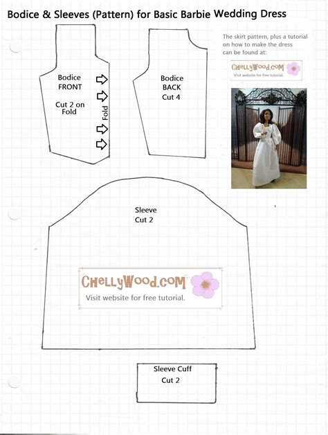 FREE Printable #BarbieClothes #Sewing #Patterns and