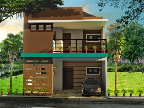 Carport Pada Gambar Rumah Minimalis Modern 2 Lantai Rumahminimalis Com