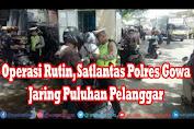 Operasi Rutin, Satlantas Polres Gowa Jaring Puluhan Pelanggar