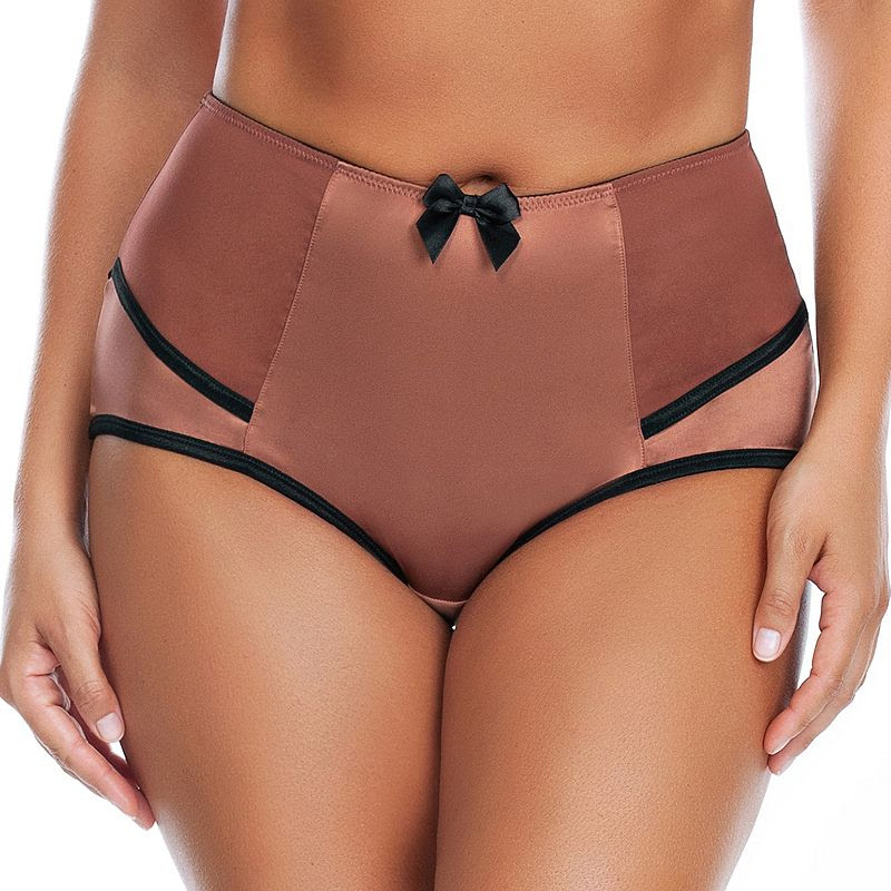 Plus Size Parfait by Affinitas Charlotte High-Waist Brief 6917, Women's, Size: 2XL, Brown Oth