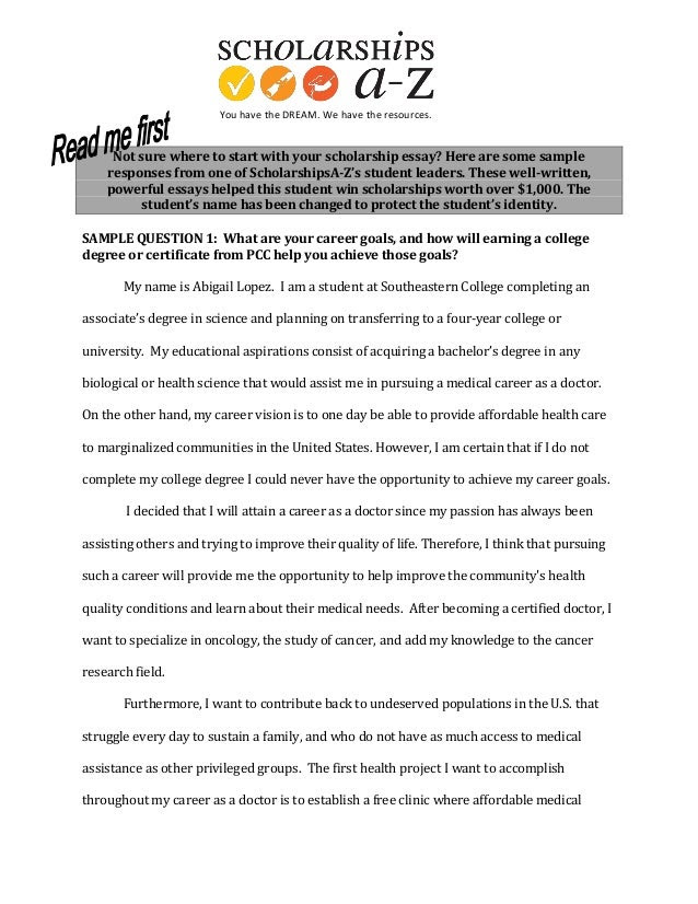 what to write in scholarship essay