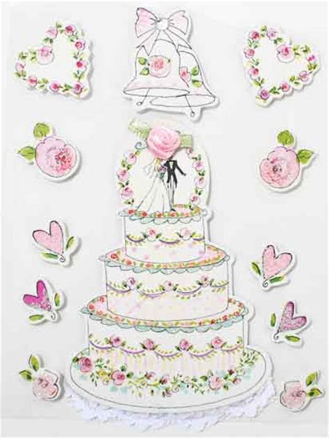 3D Wedding Themed Stickers   Scrapbooking   Craft Supplies