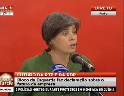 """RTP: """"Concessão ou privatização do serviço público é completamente ilegítima e inaceitável"""""""