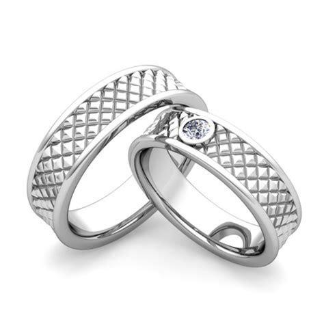 Custom His Her Fancy Matching Wedding Ring Band Diamond