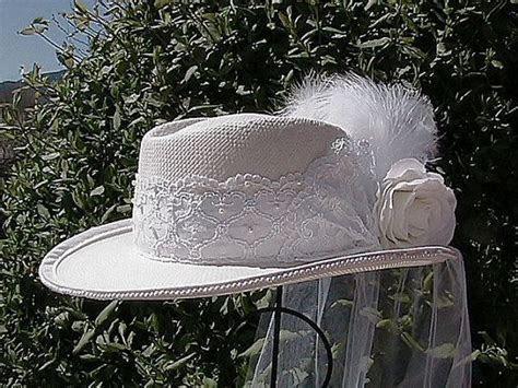 Victorian Inspired Western Bridal Hat   Western Wedding