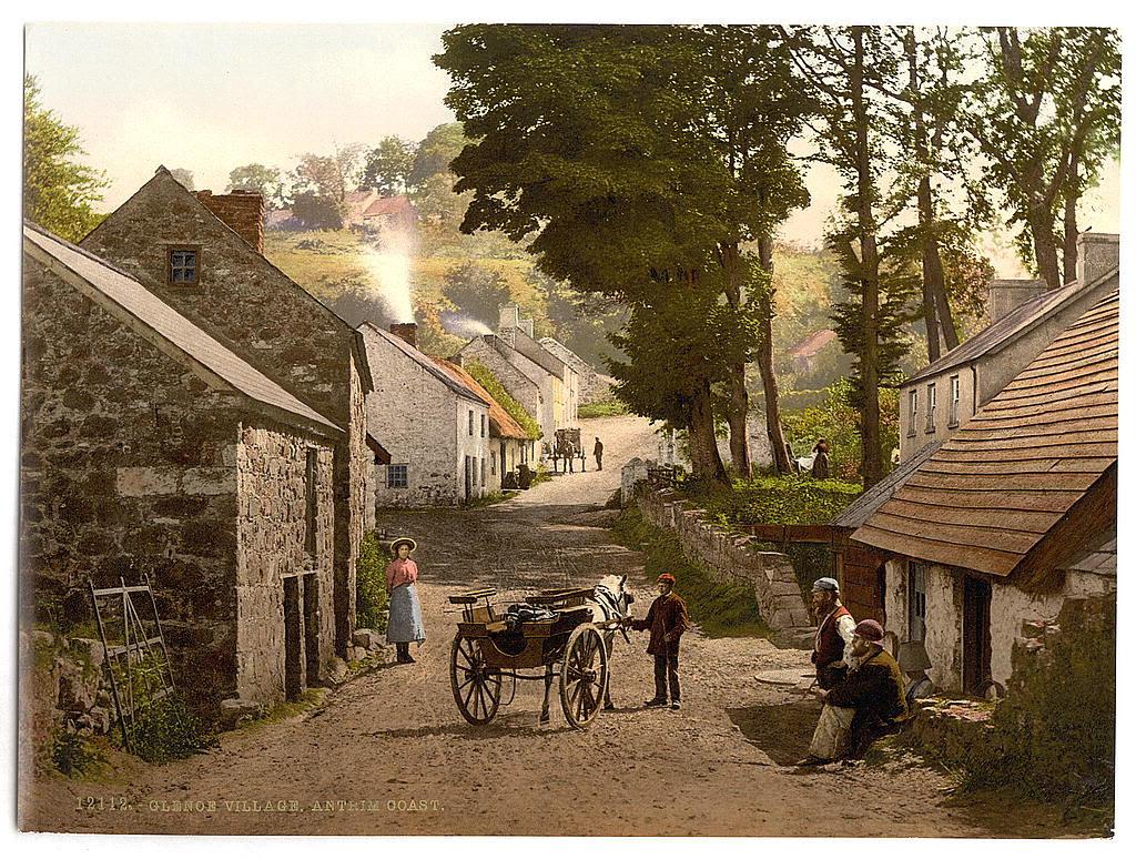 Glenoe Village. County Antrim, Ireland