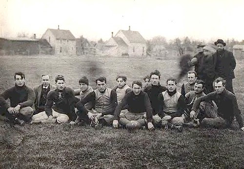 Football in Niles, Michigan about 1900 by Laxlon