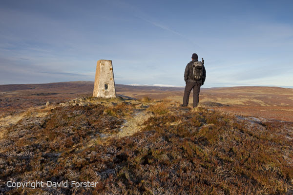 05D-8395 Walker Enjoying the View on the Summit of Cronkley Fell Upper Teesdale County Durham