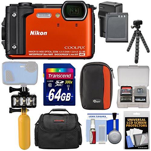 Nikon Coolpix W300 4k Wi Fi Shock Waterproof Digital Camera Orange