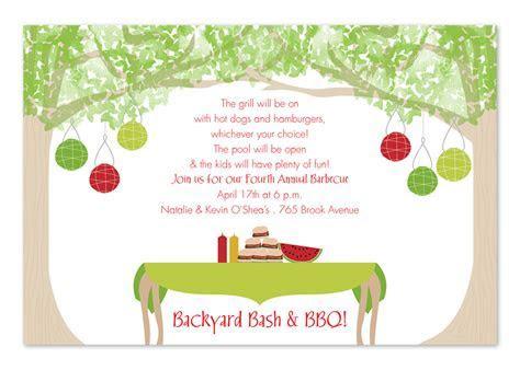 Backyard Dining   Party Invitations by Invitation
