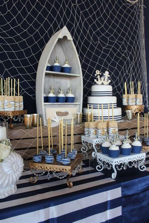 25  best ideas about Nautical party centerpieces on