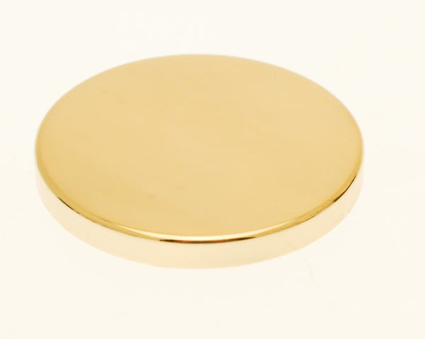Gold Candle Jar Lid - Brown & Drury Ltd