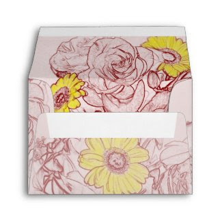 Terra Cotta Edged Flower Bouquet envelope
