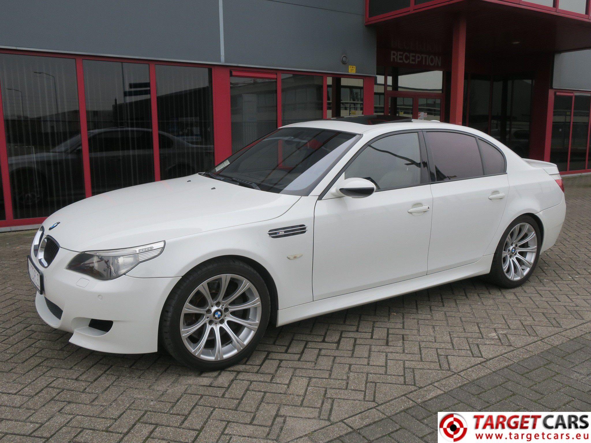Bmw M5 E60 Sedan Smg 50l V10 507hp E60 09 05 White 63516km Lhd