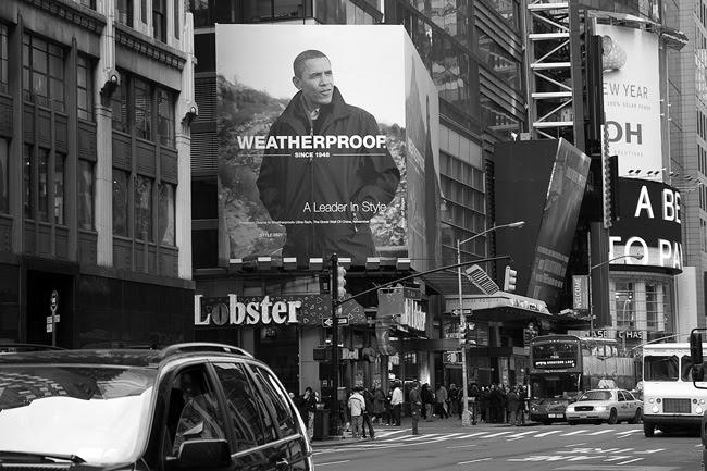 Obama billboard, Times Square