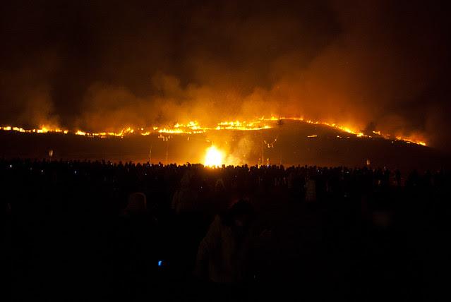 Nara Mountain burning (Yamayaki)