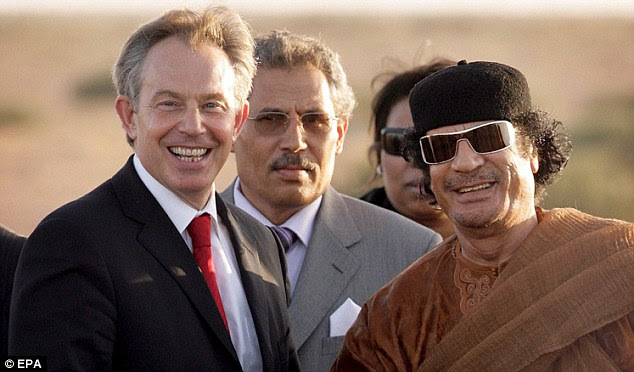 Controversial: Saif personally helped negotiate the deal between Britain and Libya that saw Tony Blair visit the country to re-open links with the UK