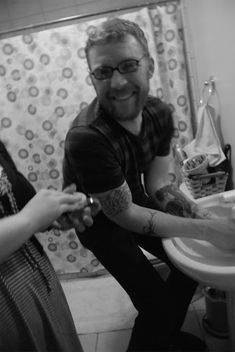 Bathroom fun.