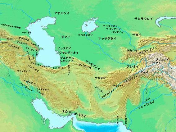 Varias razas de Asia Central en el siglo primero antes de Cristo. (Ja) .png