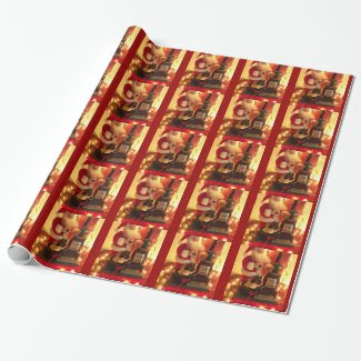 Vintage Style Santa Claus Christmas Wrapping Pape Wrapping Paper