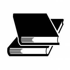参考書シルエット イラストの無料ダウンロードサイトシルエットac
