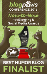BlogPaws 2015 Nose-to-Nose Awards Finalist badge
