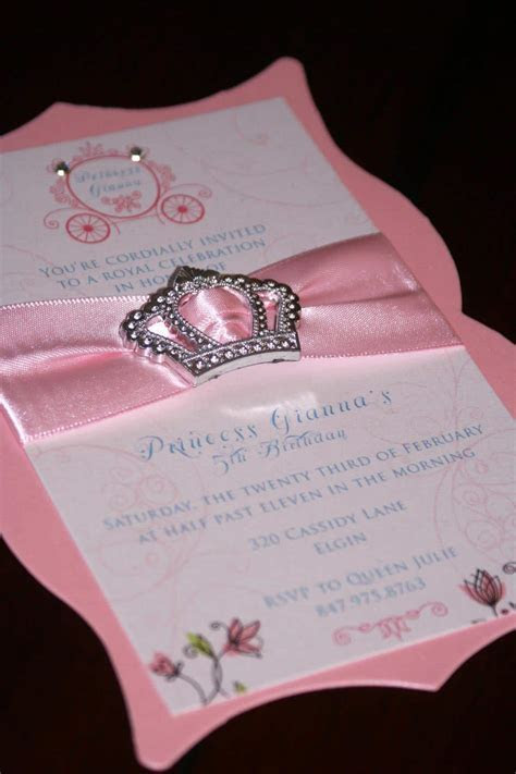 Princess Birthday Invitations   Too Chic & Little Shab
