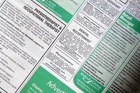 Job  ads in newspaper
