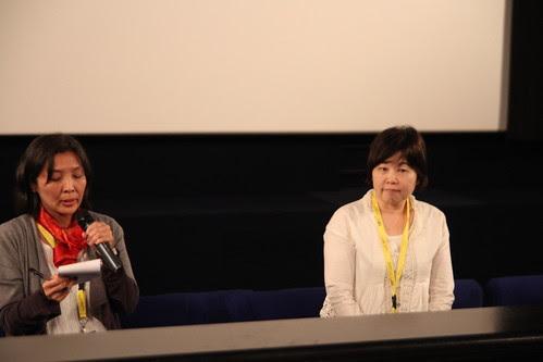 Yoko Ide during the post-screening Q and A of Shoji & Takao