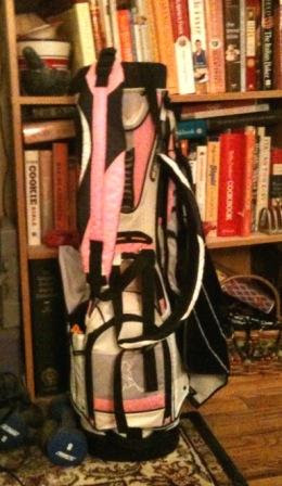 My pretty new pink golf bag