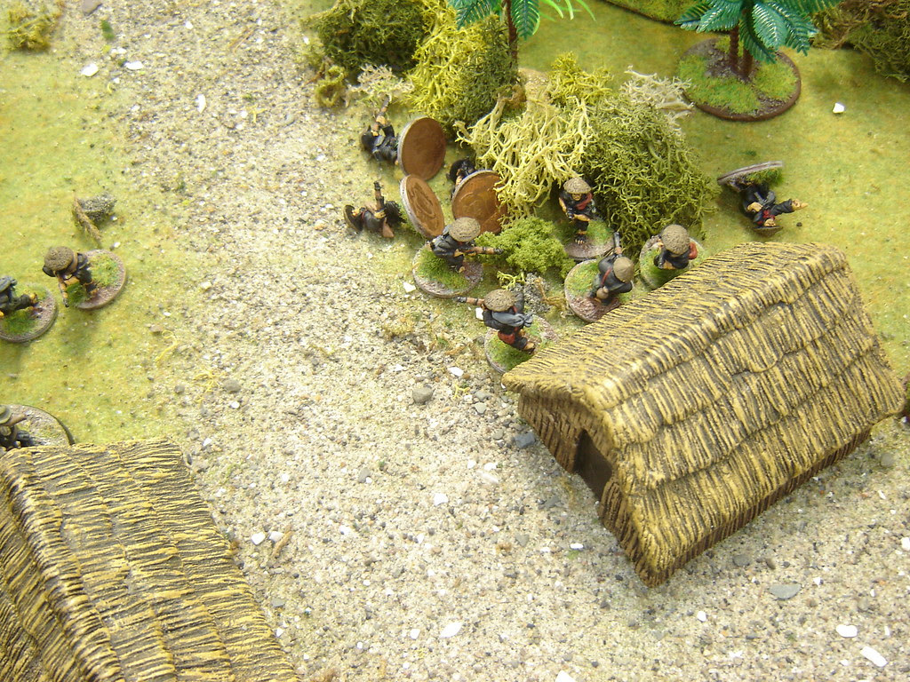 VC squad driven out of hut, taking heavy casualties