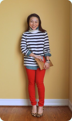 red with stripes