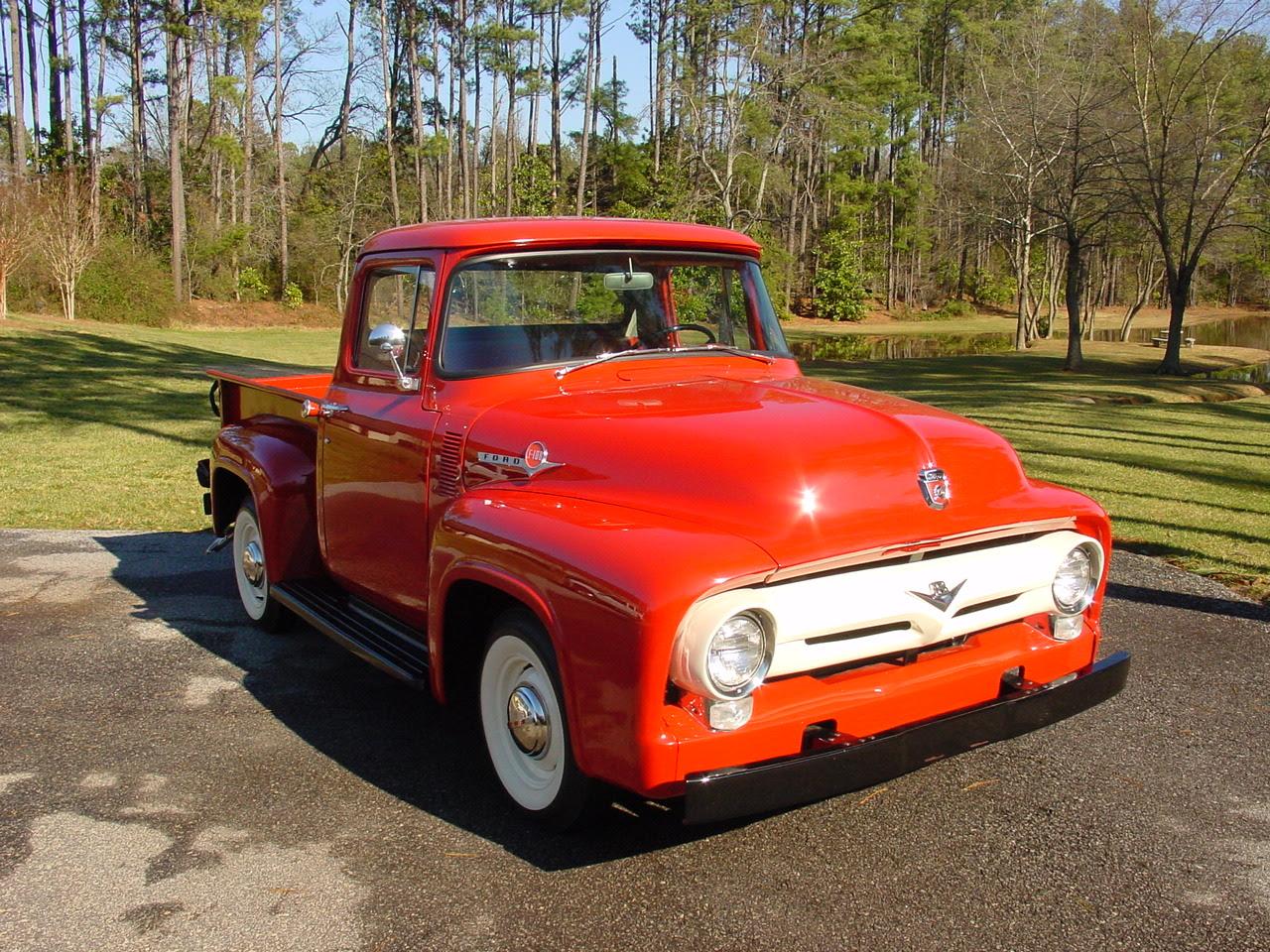 Kampat Show Buzz Gallardo Black Yellow Lip Rims 1954 Ford F100 Pick Up 56 Pickup