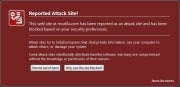 Firefox 3 malware warning; click for full-size image.