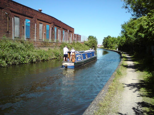 Boat on the Birmingham & Fazeley Canal
