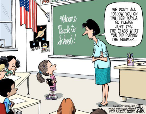 Childrens social connections are advancing - http://www.caglecartoons.com/ - Jeff Parker, Florida Today and the Fort Myers News-Press
