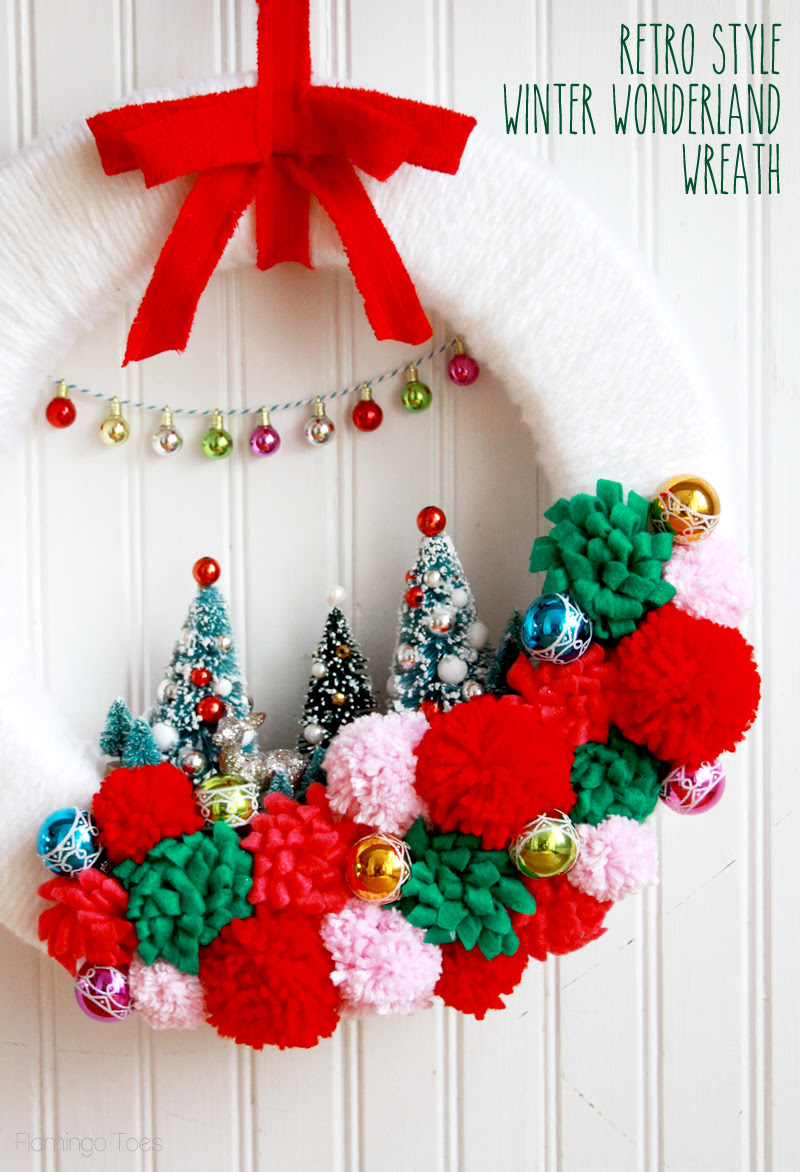 Winter Wonderland Wreath by Flamingo Toes