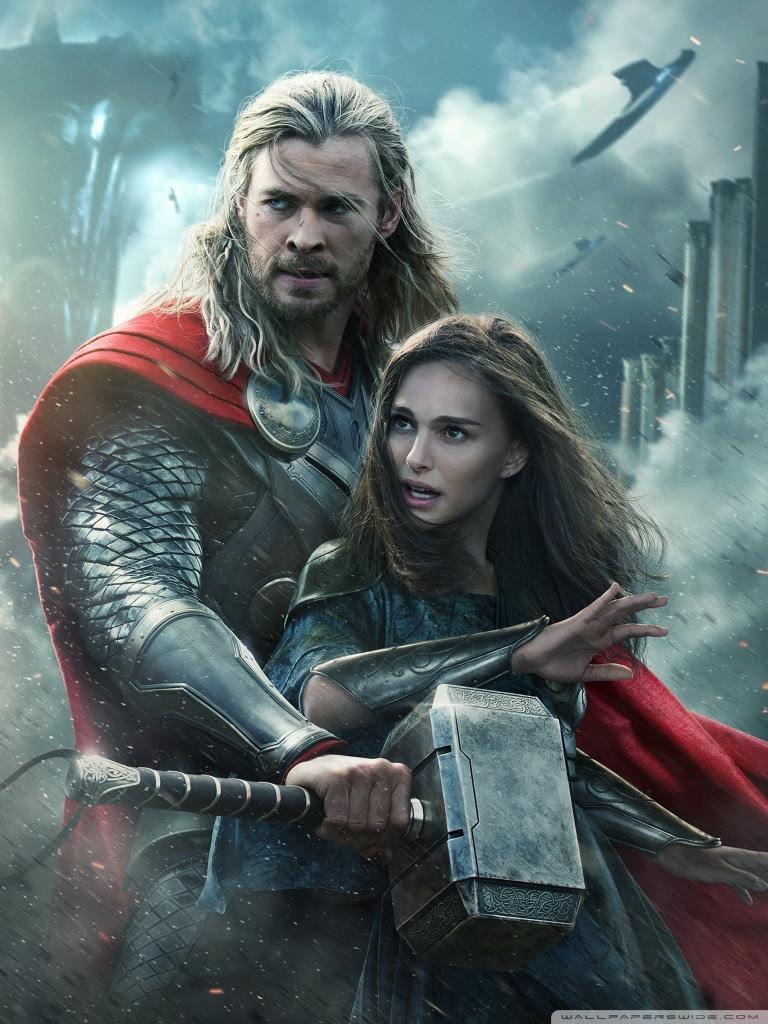 Thor The Dark World Natalie Portman And Chris Hemsworth Ultra Hd