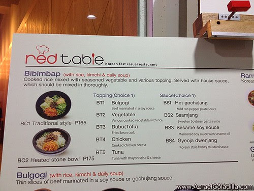 Red Table : Korean fast casual restaurant  in SM City Manila