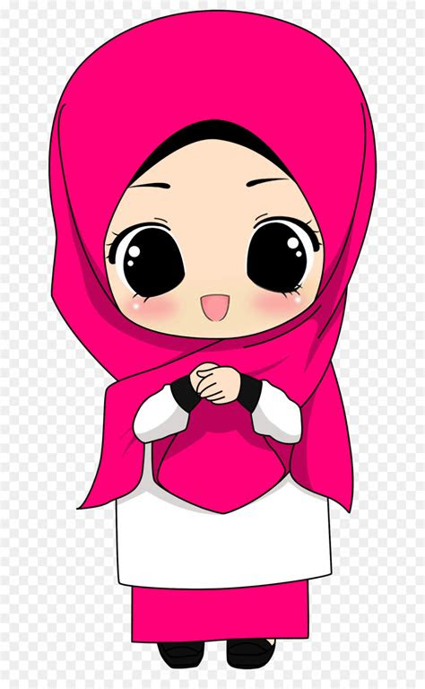 muslim islam quran hijab cartoon pink cartoon