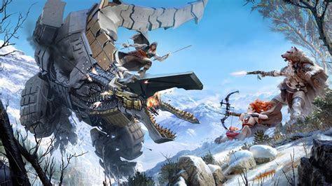 Wallpaper Thunderjaw, Battle, Horizon Zero Dawn, 4K, Games