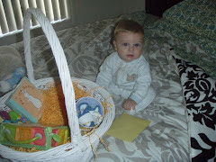 opening his easter basket from papap & nana